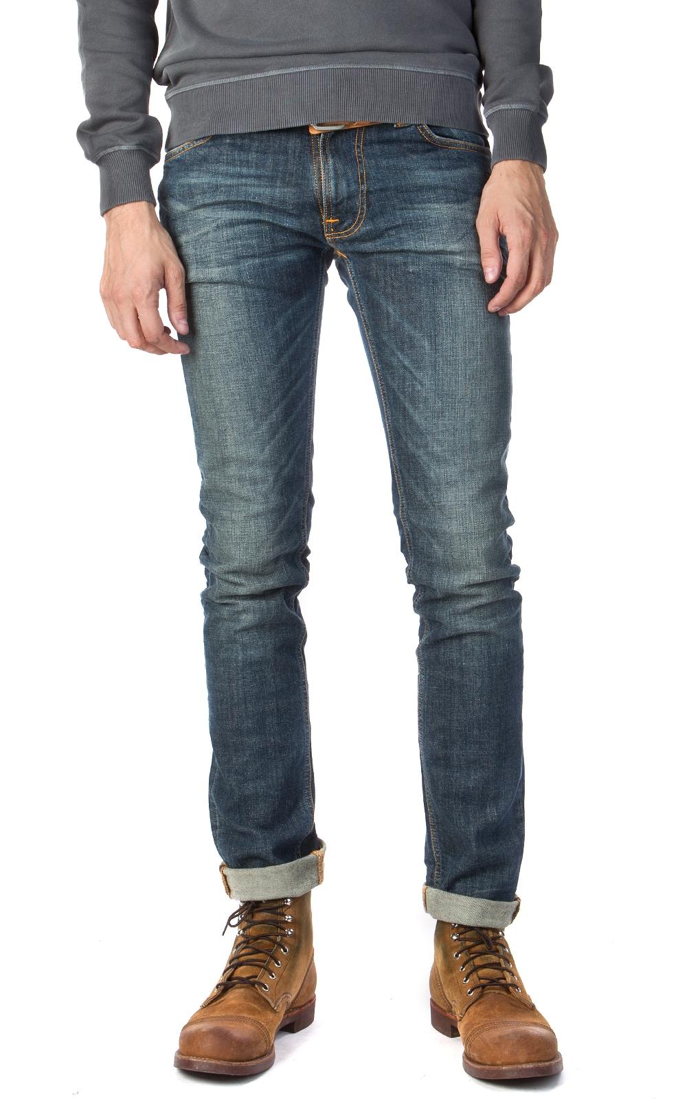 nudie jeans thin finn dusk indigo manzotti wearlab. Black Bedroom Furniture Sets. Home Design Ideas