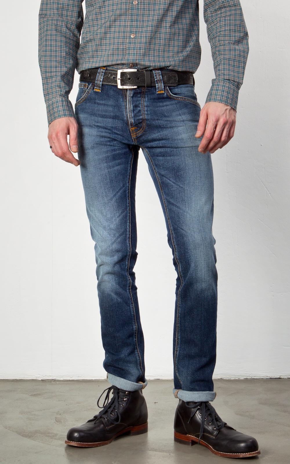 nudie jeans grim tim twisted blue manzotti wearlab. Black Bedroom Furniture Sets. Home Design Ideas