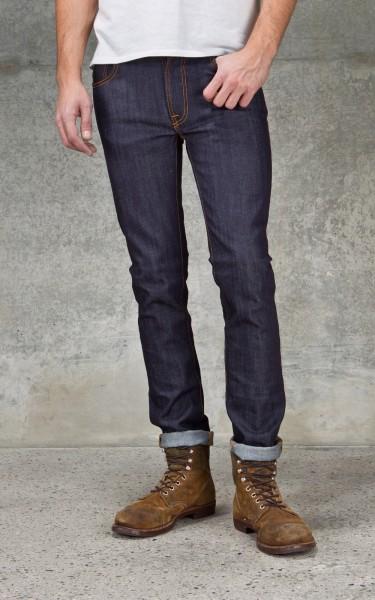 thin finn dry ecru embo nudie jeans