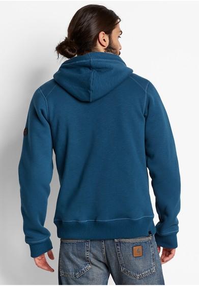 bench karloff b legion blue felpa pesante cappuccio interno orsetto