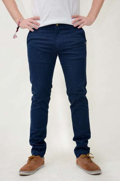 monkee genes pantalone chinos harry blue navy blu