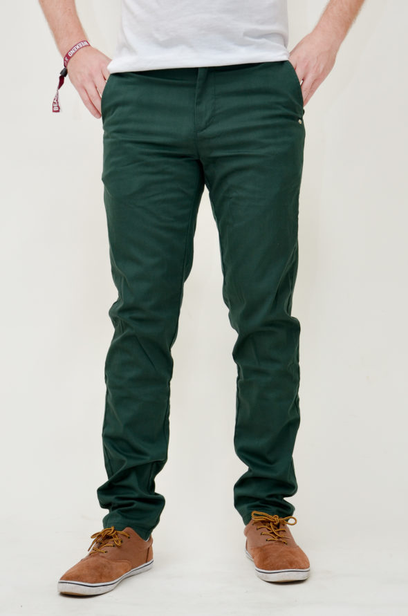 monkee genes pantalone chinos harry dark green verde scuro