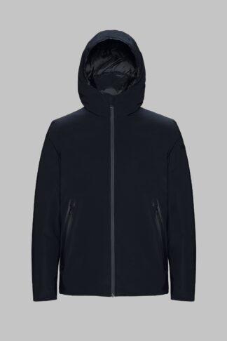 rrd uomo giubbino nero con cappuccio winter storm w19001
