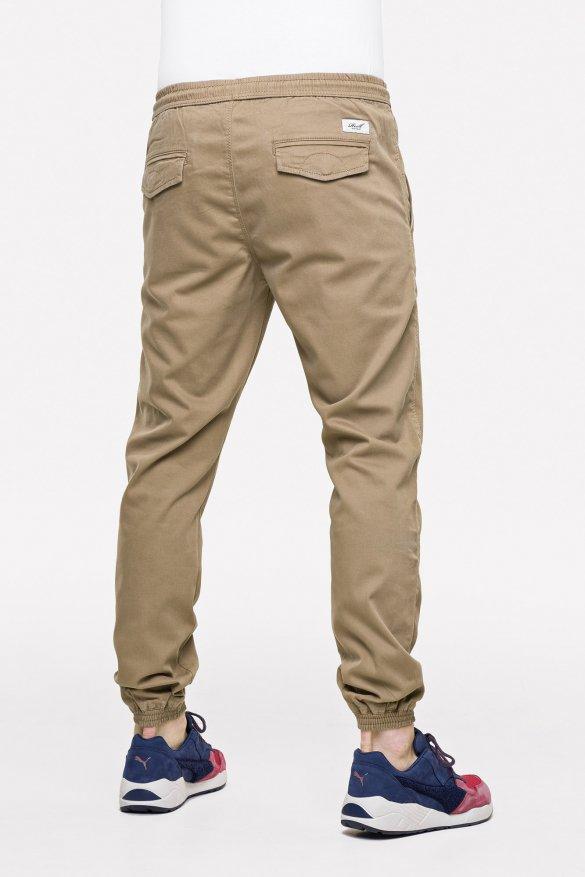 reel reflex twill sand pantalone jogger con elastico sul fondo