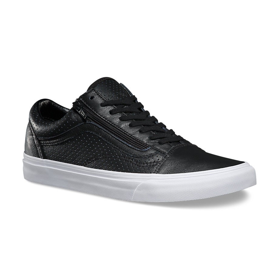 Vans classics old skool zip perforated black manzotti for Old skool house classics