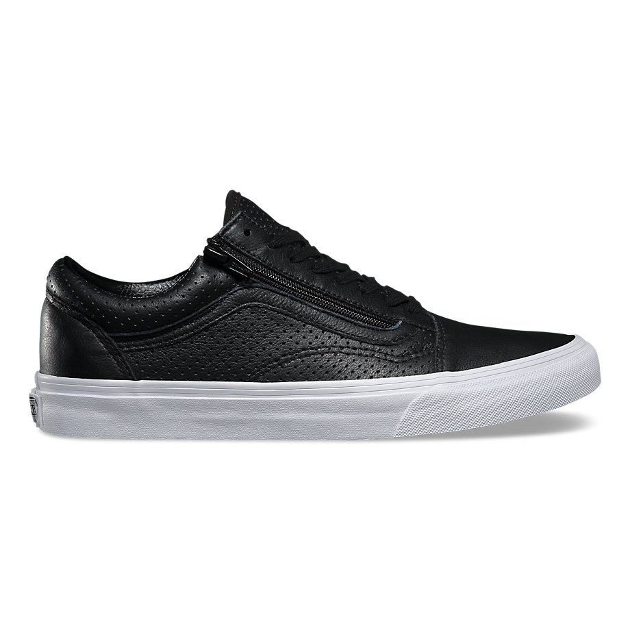 Vans Old Skool Zip Black Leather Shoes