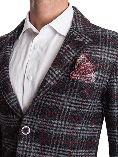 100% authentic 77b96 4766f BOB Giacca Chalk Jersey Lana Quadri - Manzotti Wearlab Desio