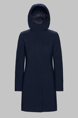 rrd winter long lady blu scuro cappottino con cappuccio w19501 colore 60
