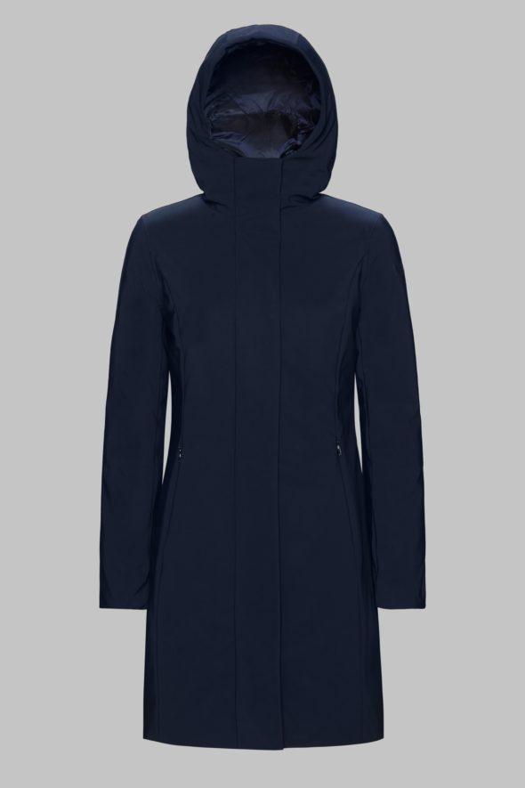 rrd winter long lady blu scuro cappottino con cappuccio w19501 colore 60