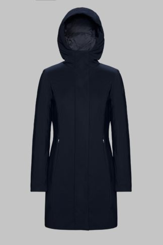 rrd winter long lady nero cappottino con cappuccio w19501 colore 10