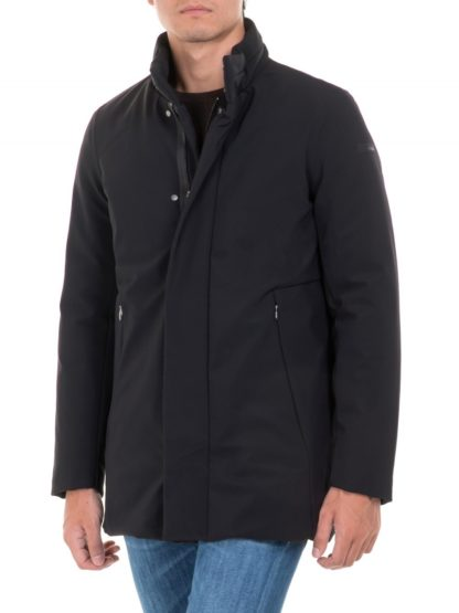 rrd winter trench nero cappotto tecnico uomo