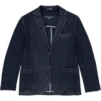 circolo 1901 giacca uomo due bottoni cn1432 cotone piquet elasticizzata blu indaco