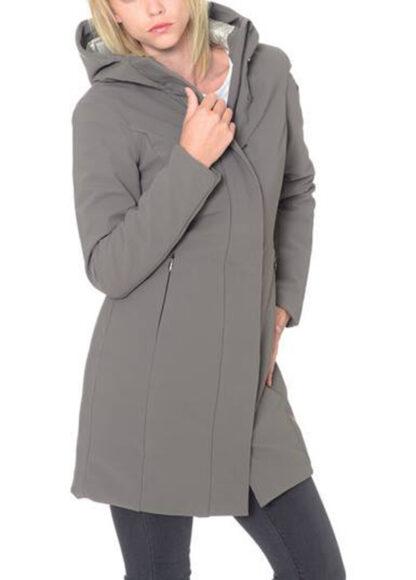 rrd winter long lady beige cappotto parka cappuccio