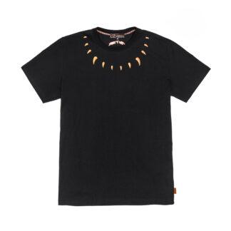 IUTER t shirt claws black maglietta maniche corte con inserti ricamo al collo