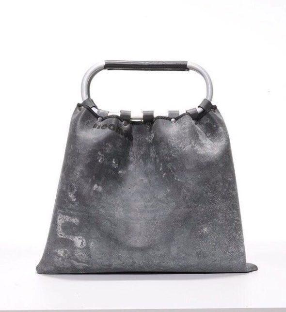 Neomeno borsa neoprene con manico ovale in alluminio