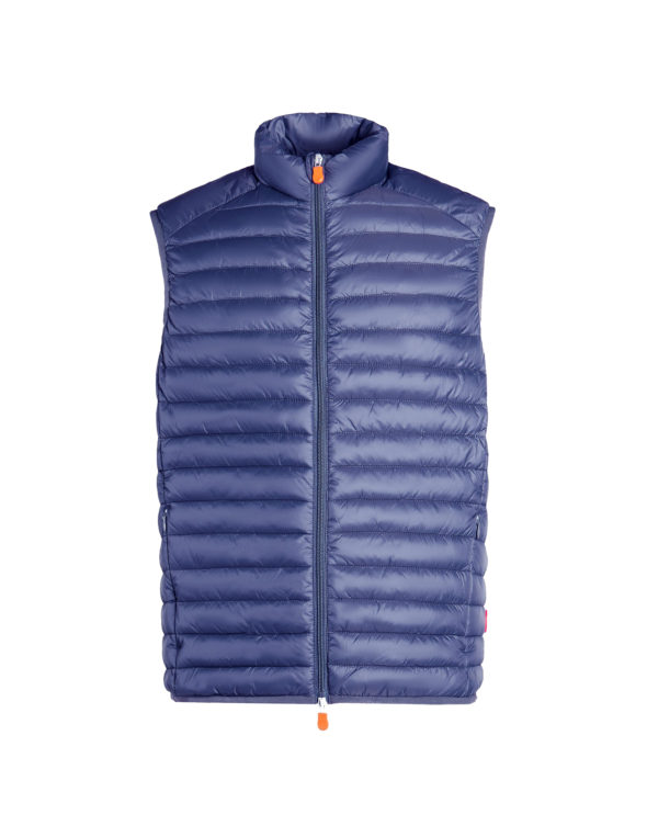 save the duck gilet d2841m giga6 navy blue