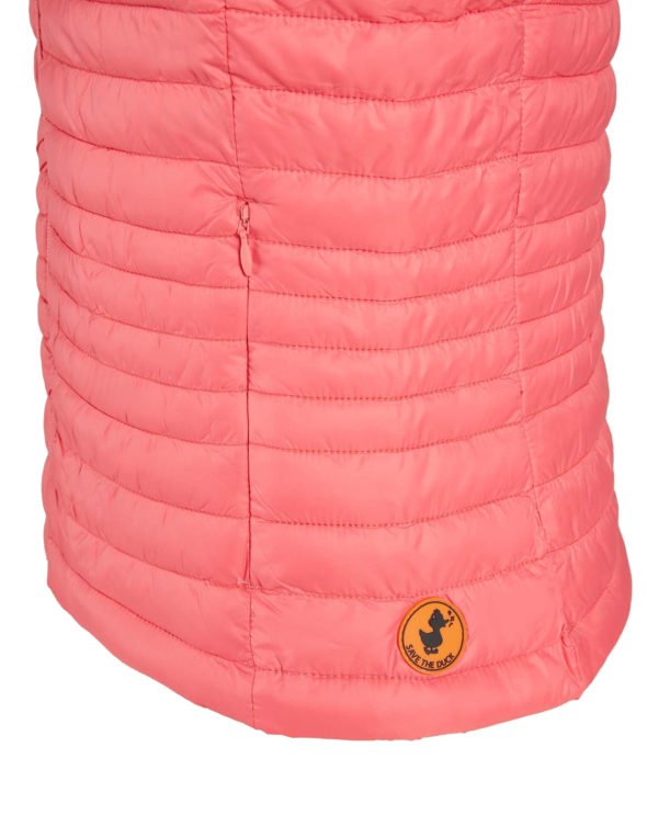 SAVE THE DUCK donna d8544w giga6 coral pink gilet con interno a contrasto