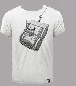 dirty velvet t-shirt stampa hooked bianco