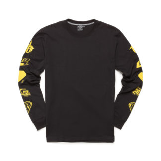 IUTER horns tee l/s black maglietta manica lunga con stampa sulle braccia
