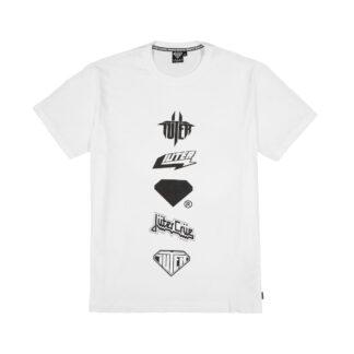 iuter horns tee white maglietta con stampa frontale