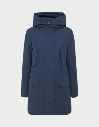 save the duck p4014w copy7 parka blue navy con imbottitura staccabile