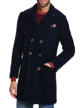 cappotto BOB doppio petto blu