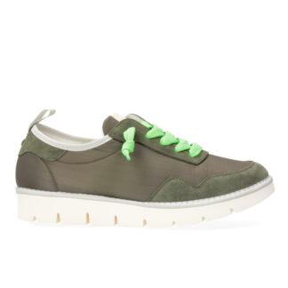 PANCHIC scarpe Uomo p05 Granonda Nylon Suede Musk Birch Green Fluo