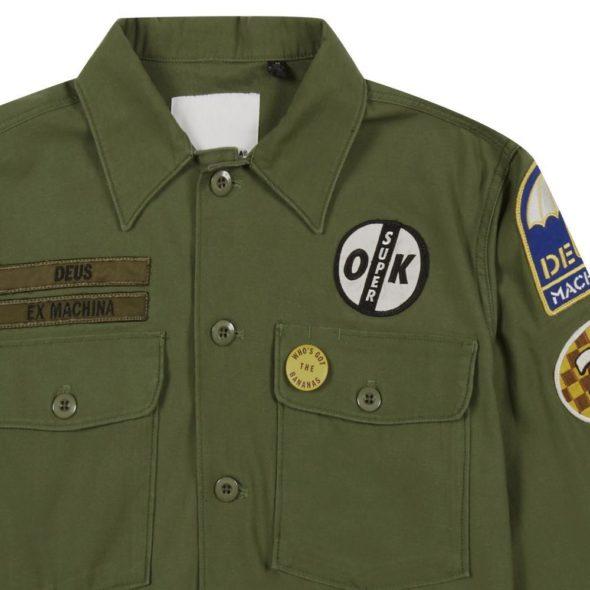 deus ex machina giacca camicia monty verde militare