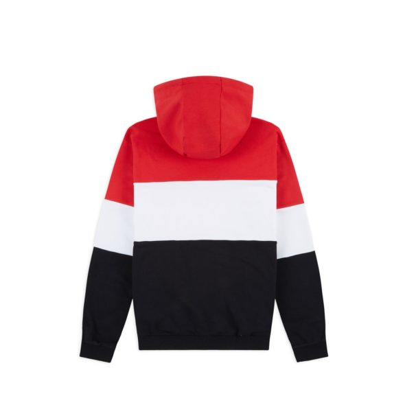 fila felpa uomo night cappuccio blocked red black white