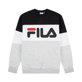 fila felpa uomo girocollo straight black grey white