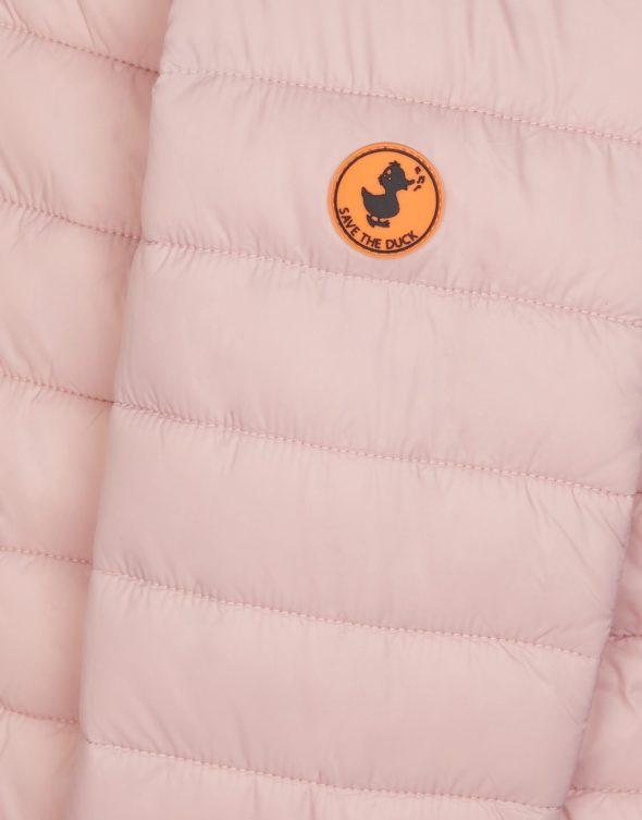 save the duck j3062G giga9 giubbino bambina rosa con cappuccio e interno in pile