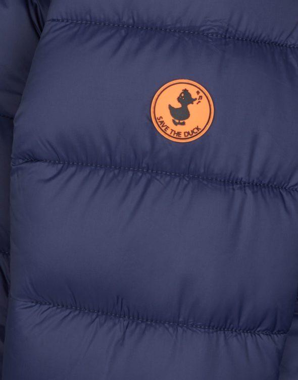 save the duck j4454G giga9 parka bambina blu con cappuccio e interno in pile
