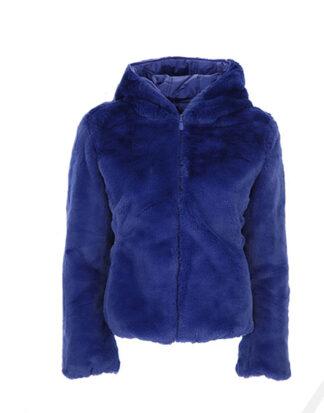 save the duck eco pelliccia reversibile d3354w colore twilight blue