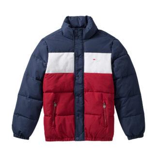 fila giacca pelle puff 687241 con zip centrale