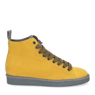 panchic uomo P01 polacchino in suede giallo ocra