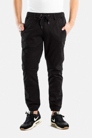 reell pantalone jogger reflex nero con coulisse