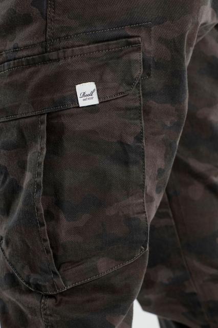 reell pantalone jogger militare scuro