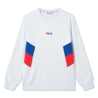 fila felpa gircollo baker 687481 A459 bright white, surf the web, true red