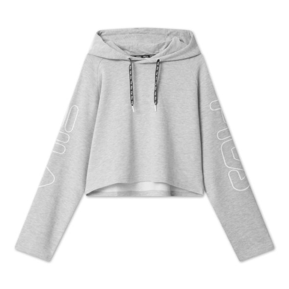 fila felpa leanna cropped hoody 683075 B13 light grey melange bros