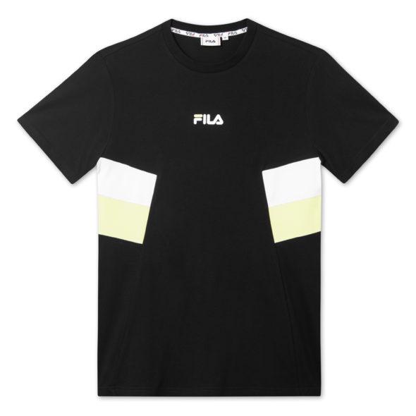 fila maglietta barry nero 687482 A877 black bright white sharp green.