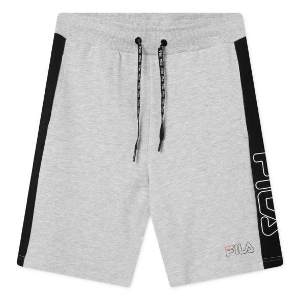 fila pantaloncini lex 683090 mI31 light grey melange bros black
