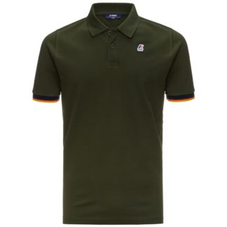 k way polo uomo vincent contrast verde africa k008j50 576 green