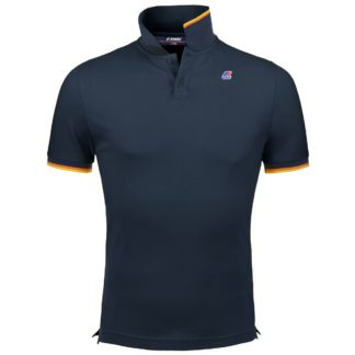 k way polo uomo vincent contrast blu k008j50 k89 blue depht