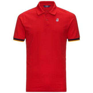 k way polo uomo vincent contrast rosso k008j50 k08 red
