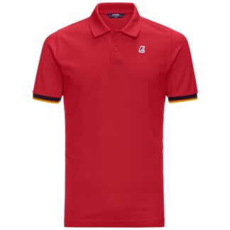 kway polo vincent contrast k008j50 Q03 rosso red