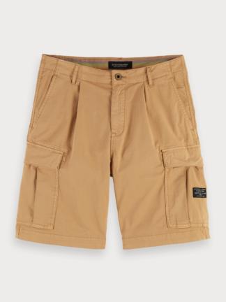 scotch & soda pantaloni corti cargo tasconi laterali 155094 beige sabbia 0768 sandstone