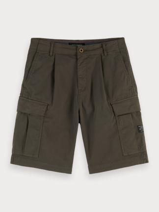 scotch & soda pantaloni corti cargo tasconi laterali 155094 verde militare 0115 army