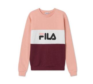 fila felpa donna modello leah crew rosa girocollo 687043 a811 tawny port coral cloud bright white