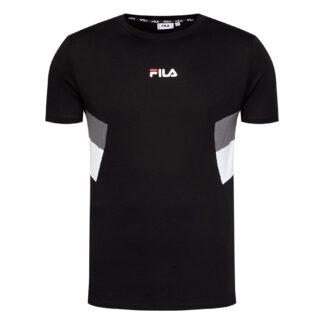 fila maglietta uomo barry 687482 a724 nero inserti grigio