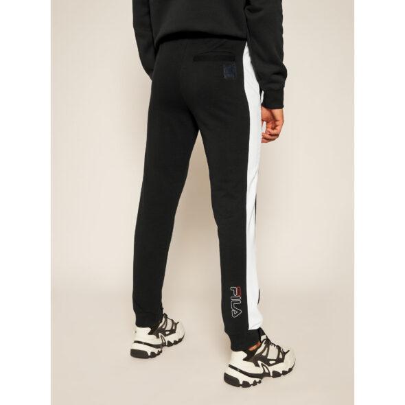 fila pantalone uomo in felpa modello lars nero 683187 e09 black bright white